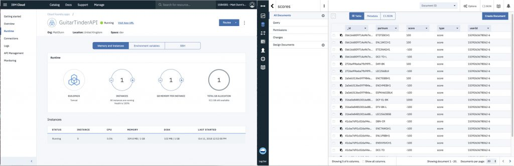 Screenshot of IBM Cloud tooling dashboards